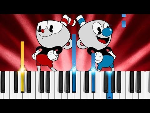 Cuphead - Don't Deal with the Devil - EASY Piano Tutorial - Cuphead Theme Song