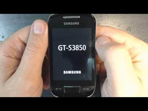 Samsung Corby 2 S3850 - How to reset - Como restablecer datos de fabrica