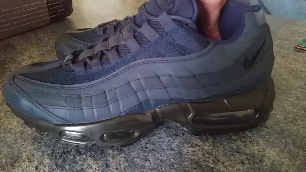 d1521a438 Nike Air Max 95 fake replicas Obsidian Blue DHGATE Unboxing - YouTube