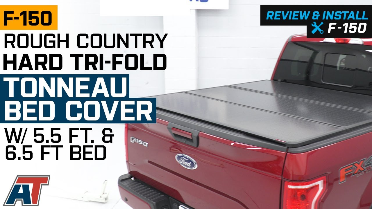 2015 2019 F150 Rough Country Hard Tri Fold Tonneau Cover Review Install Youtube