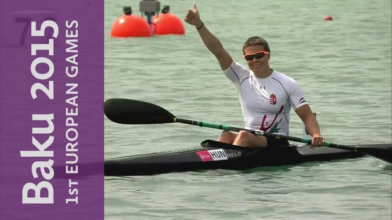 Danuta Kozak gets a gold for Hungary in the Women's K1 500m Kayak Sprint |  Canoe Sprint | Baku 2015