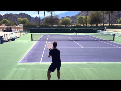 Richard Gasquet 2014 Indian Wells Practice 3.3.14 BNP Paribas Open Part 2/2