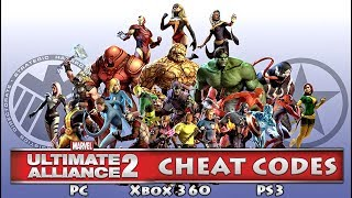 Marvel Ultimate Alliance 2 (PC/X360/PS3) CHEAT CODES