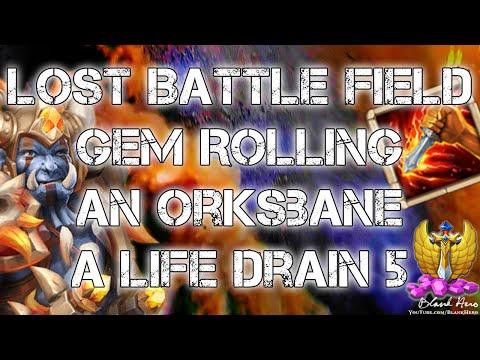 Castle Clash: Lost Battle Field, Gem Rolling, An Orksbane, A Life Drain 5