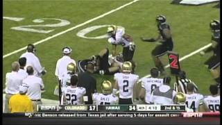 Mike Sellers sacks Tyler Hansen Colorado vs. Hawaii 2011