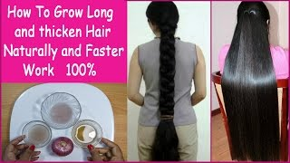 How To Grow Long and thicken Hair Naturally and Faster 100% Work (Hair Growth Treatment) thumbnail