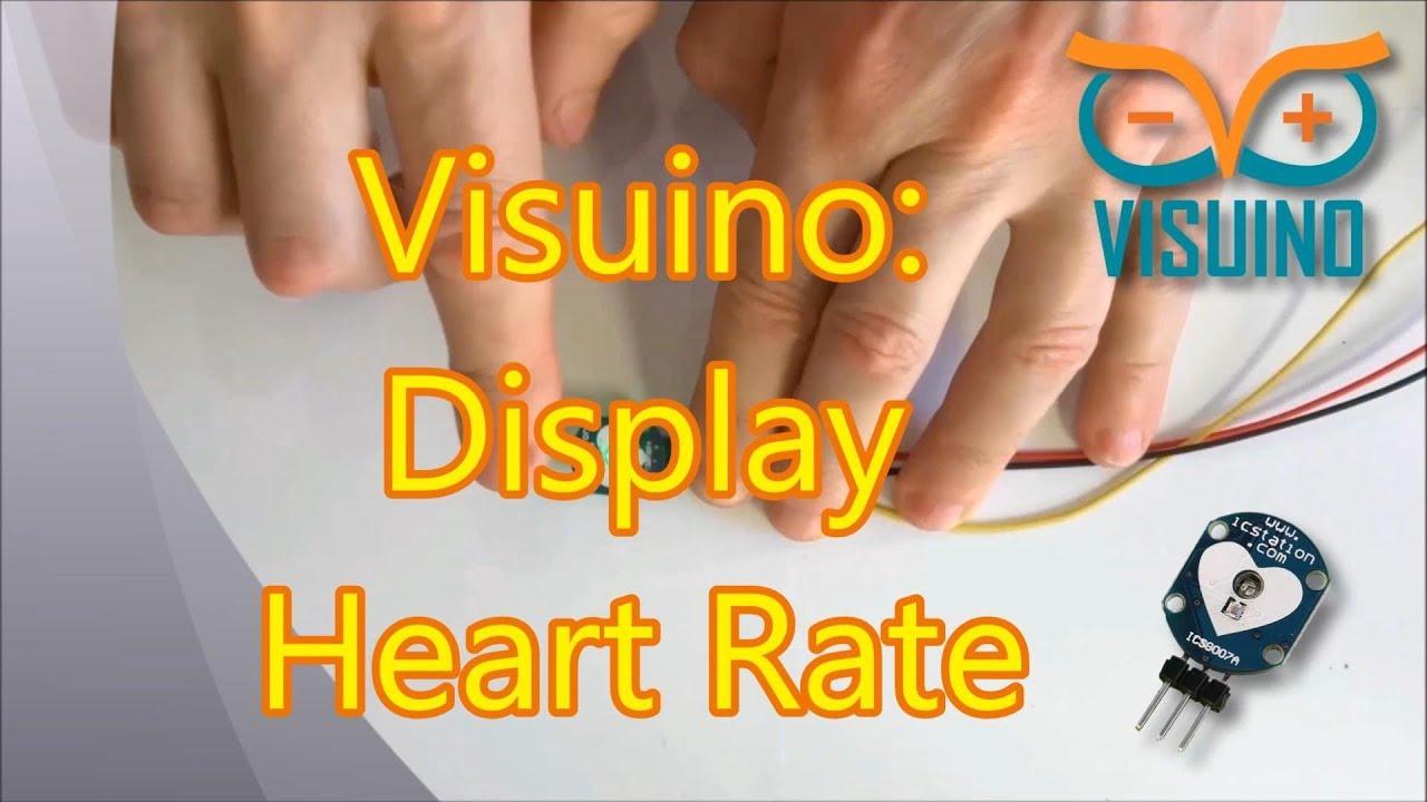 Arduino Nano And Visuino Display Pulse From Icstation Heartbeat Talking Heart Rate Monitor Circuit Sensor Module