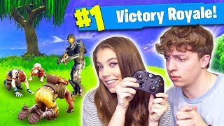 STREAMING FORTNITE WITH MY SISTER!? (Fortnite Battle Royale)