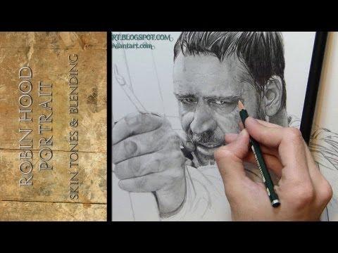 Robin Hood Drawing Portrait Skin Tones & Blending for Tutorial Realist #Ambrojordiartic