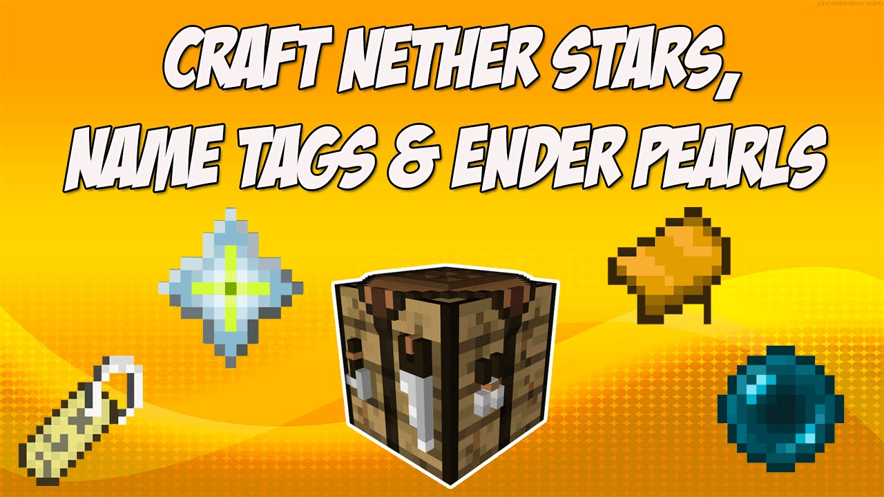 Craft Nether Stars Name Tags Saddles And Ender Pearls In Minecraft Mod Spotlight