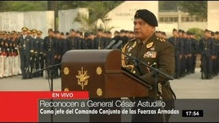 César Astudillo reconocido como nuevo jefe de C. C. FF. AA.