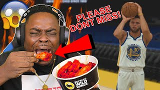 EVERY TIME STEPH CURRY MISSES A THREE I EAT A BLAZIN WING (BUFFALO WILD WINGS)   NBA 2K20 GAMEPLAY