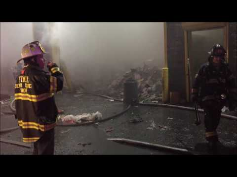 (FIRE GROUND AUDIO) - FDNY BATTLING 5TH ALARM FIRE ON 135TH STREET IN PAPER RECYCLING PLANT.