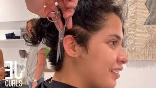 Short Curly Hair Cut Start to Finish