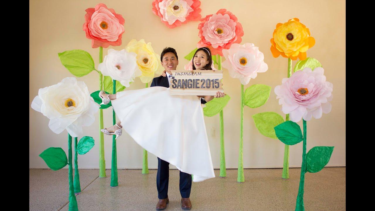 Sangie giant paper flowers photo backdrop timelapse youtube mightylinksfo