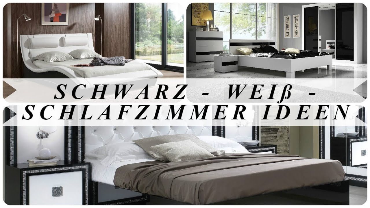 schwarz wei schlafzimmer ideen youtube. Black Bedroom Furniture Sets. Home Design Ideas