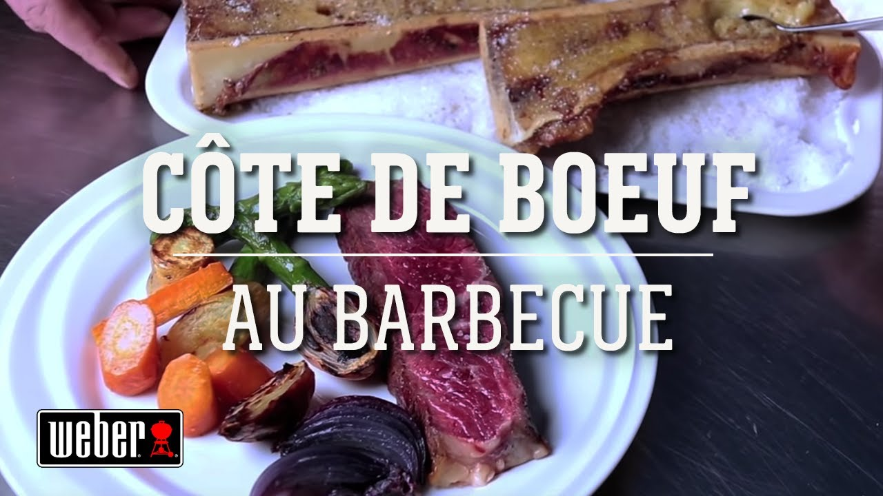 recette de la c te de boeuf au barbecue youtube. Black Bedroom Furniture Sets. Home Design Ideas