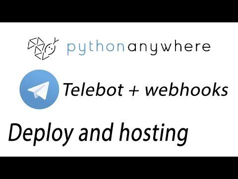 Telegram Bot With Webhooks | PyTelegramBotAPI(Telebot) + PythonAnywhere