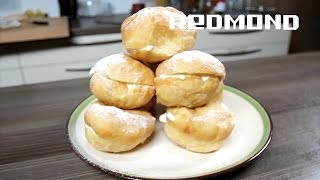 Мультиварка REDMOND PM190. Рецепты для мультиварки #27: Пончики с начинкой из воздушного творога