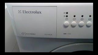 Electrolux EWC 1350 suvni to'kib tashlang qilmaydi bilan to'xtadi.