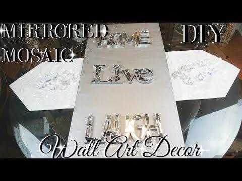DIY MIRROR MOSAIC WALL ART 💎  DIY DOLLAR STORE WALL DECOR 💎  DIY GLAM ROOM DECOR