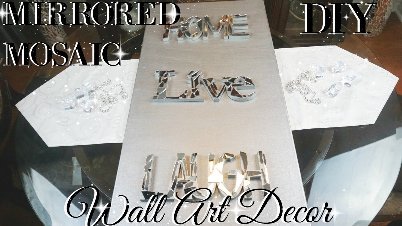 Craft Room Wall Decor: DIY MIRROR MOSAIC WALL ART 💎 DIY DOLLAR STORE WALL DECOR