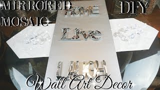 DIY MIRROR MOSAIC WALL ART 💎  DIY DOLLAR STORE WALL DECOR 💎  DIY GLAM ROOM DECOR
