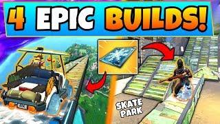 Fortnite Gameplay: 4 EPIC CHILLER BUILDS/IDEAS! - Ft. Skate Park + Sky Ramp in Battle Royale!