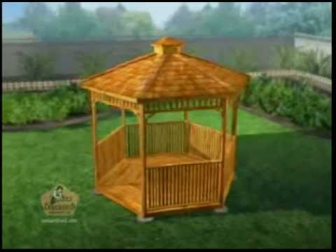 Hexagon Cedar Gazebo Assembly Youtube