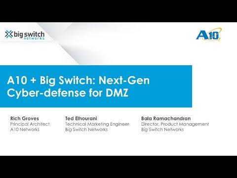 [Webinar] A10 + Big Switch: Next-gen Cyber-defense for DMZ