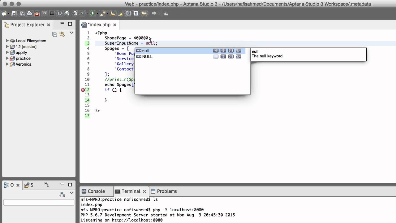 PHP5, HTML & CSS Web Project | Null Value & Boolean Values in IF ...
