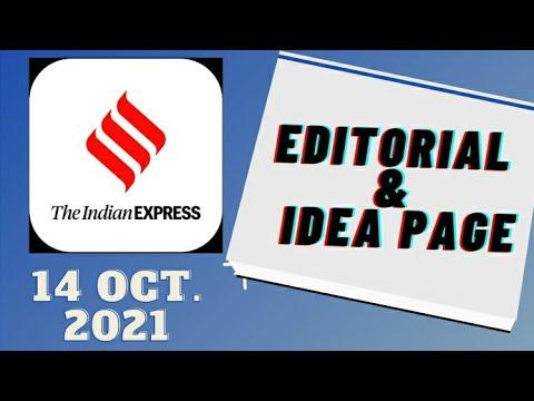 14th October 2021   Gargi Classes Indian Express Editorial Analysis/Discussion