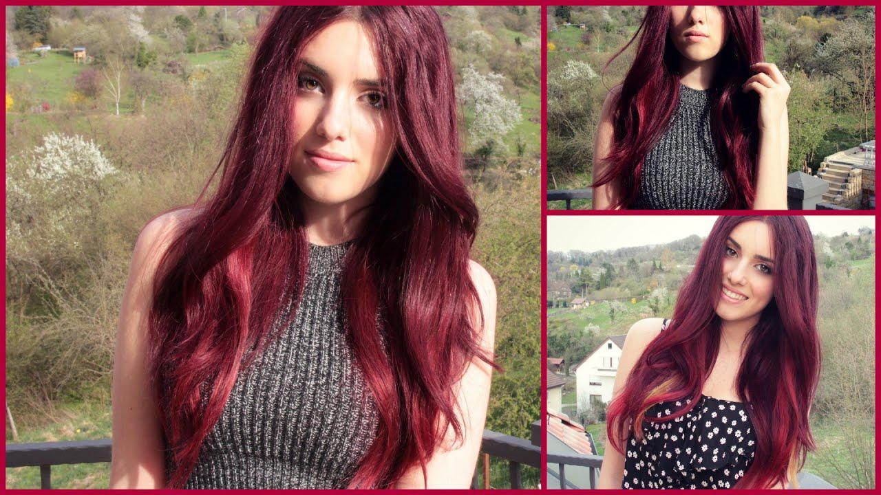 Rote haare farben vorher blondieren
