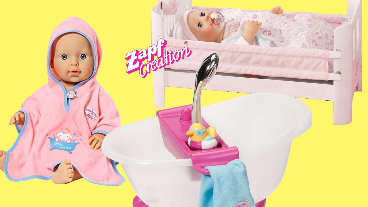 Baby Annabell Learn to walk Take Bath and Sleeps in Lullaby Doll