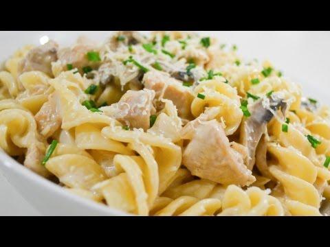 Creamy Chicken And Mushroom Pasta - Video Recipe