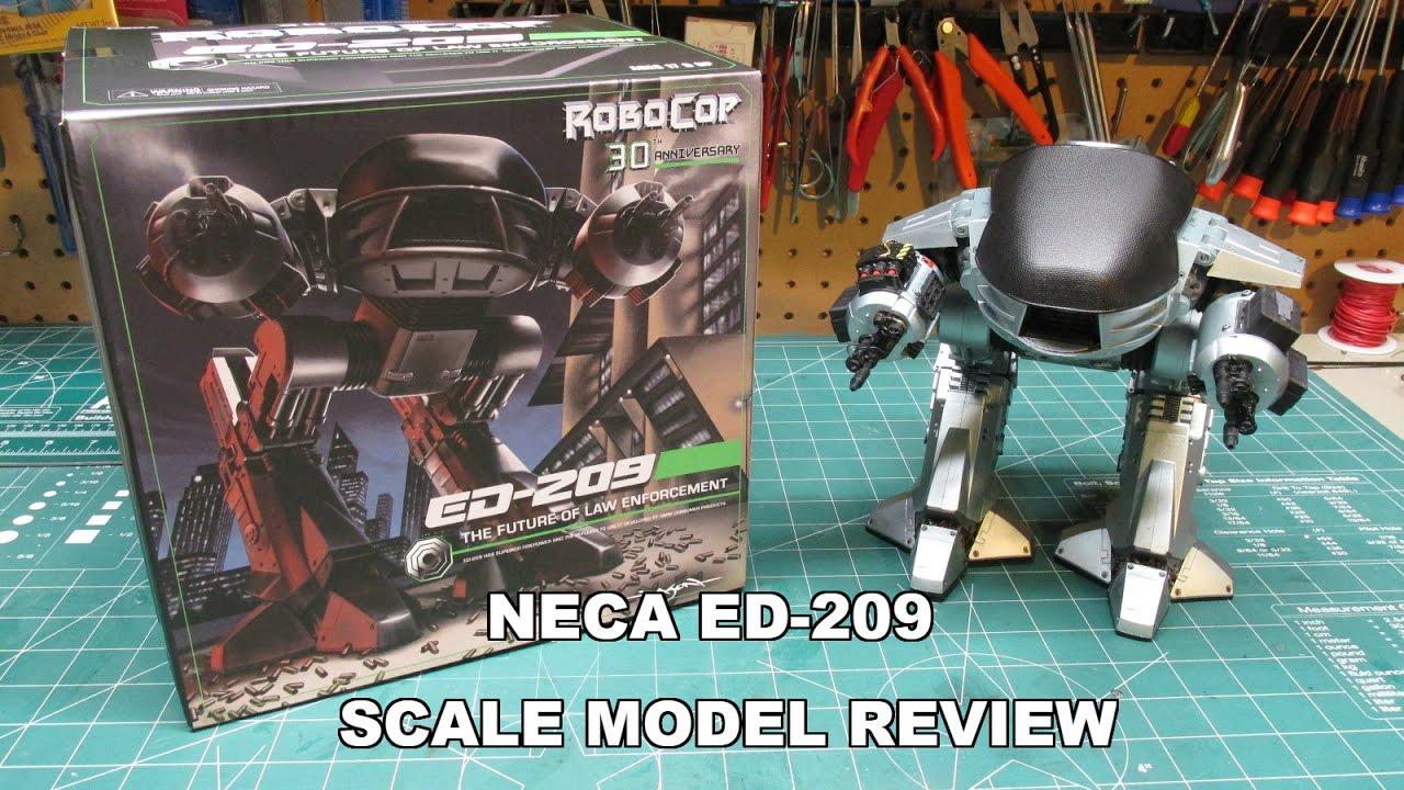 NECA ED-209 ROBOCOP SCALE MODEL FIGURE REVIEW 42055 30th Anniversary 2017