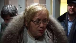 Татьяна Мерзлякова в отделении полиции, куда доставили руферов с телебашни