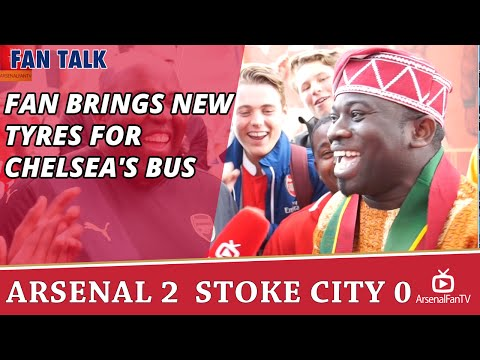 Fan Brings New Tyres For Chelsea's Bus | Arsenal 2 Stoke 0