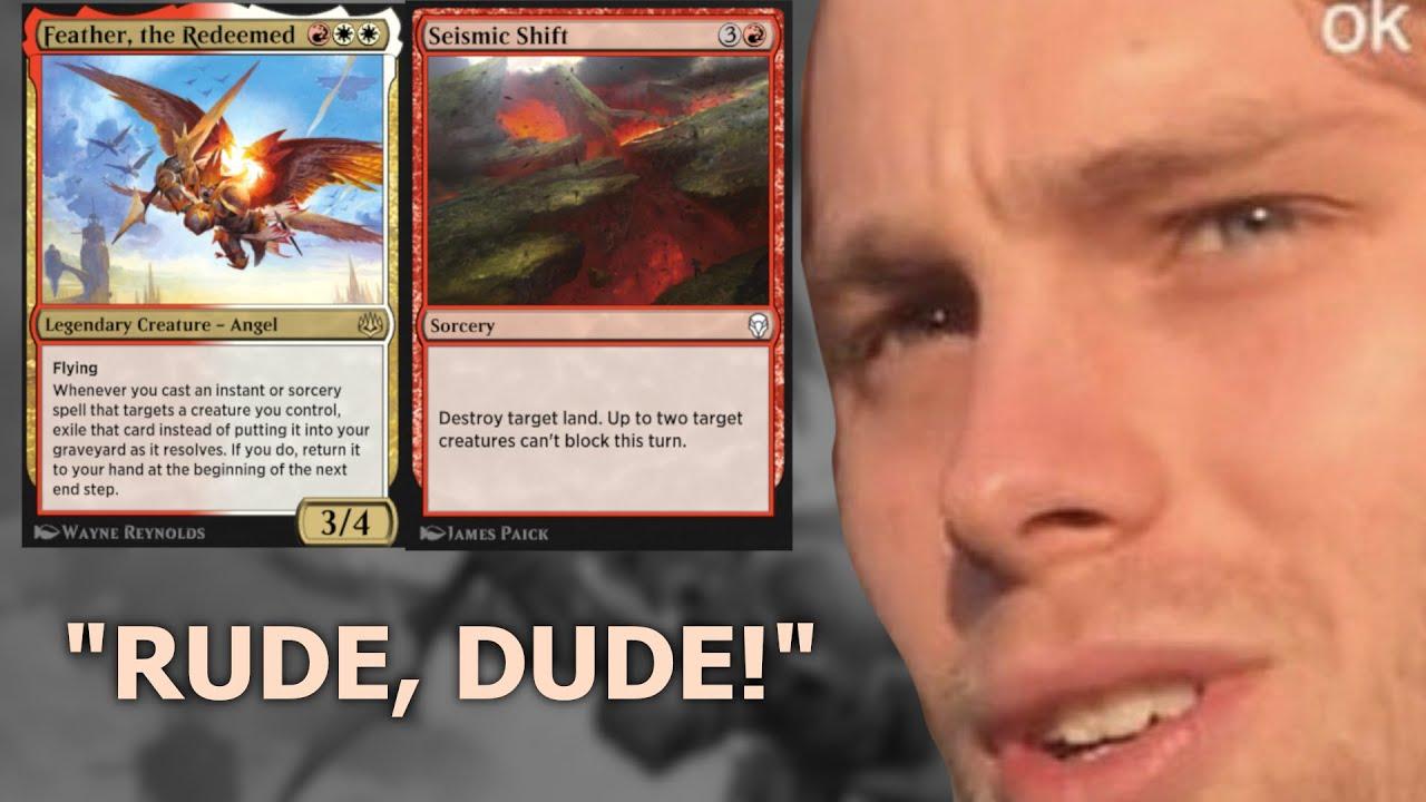 """BRUH! Stop destroying my lands! sToP iT!"" Historic Feather Land Destruction MTG Arena"