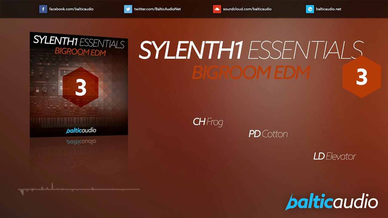 Sylenth1 Essentials Vol 3 - Bigroom EDM (64 Sylenth1 presets, 32 MIDI files)