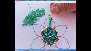 Hand Embroidery/embroidery flower,beads work for dress