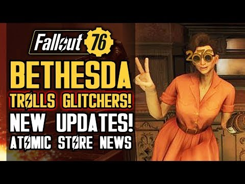 Fallout 76 - Bethesda Trolls Glitchers! Finally Listening About Atomic Shop? New Shop Items! thumbnail