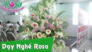 Học cắm hoa giao tế: Hoa chia buồn