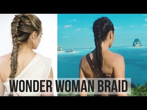 Wonder Woman Braid Hair Tutorial - KayleyMelissa