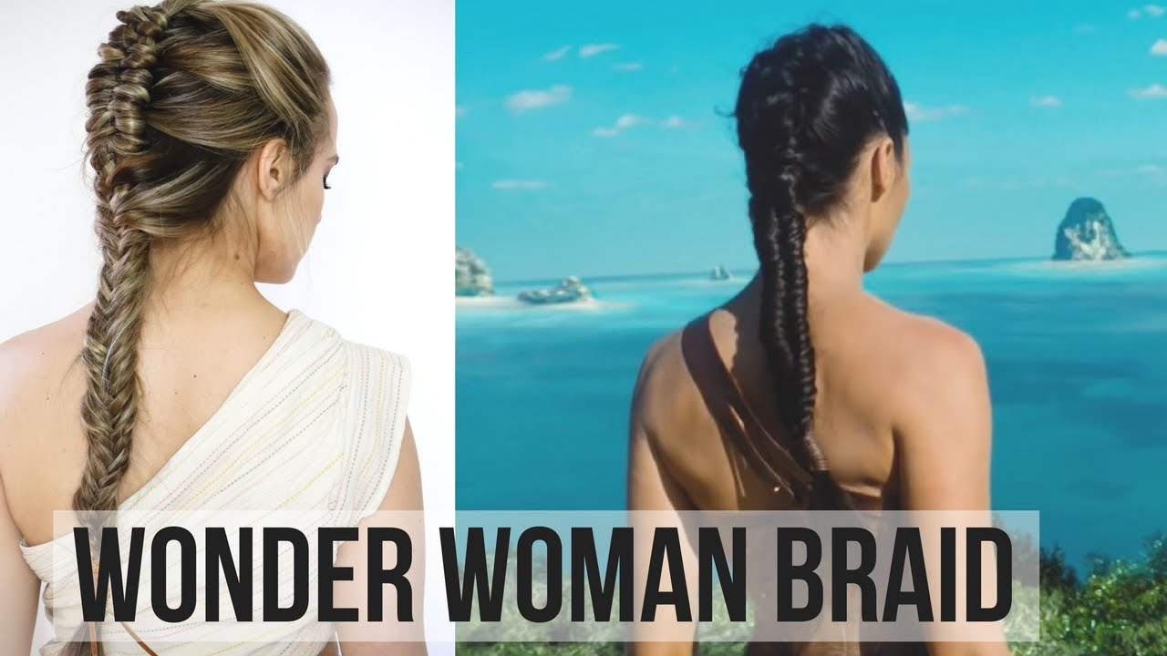 woman braid hair tutorial