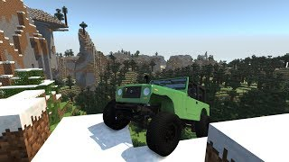 MINECRAFT IN BEAMNG.DRIVE! BeamNG.mine!