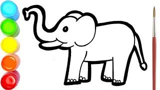 Menggambar Dan Mewarnai Gajah Untuk Anak-anak   Mewarnai Gambar screenshot 2