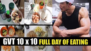 GVT (10 x 10) |FULL DAY MEALS| 8 Weeks Muscle Building plan by JEET SELAL