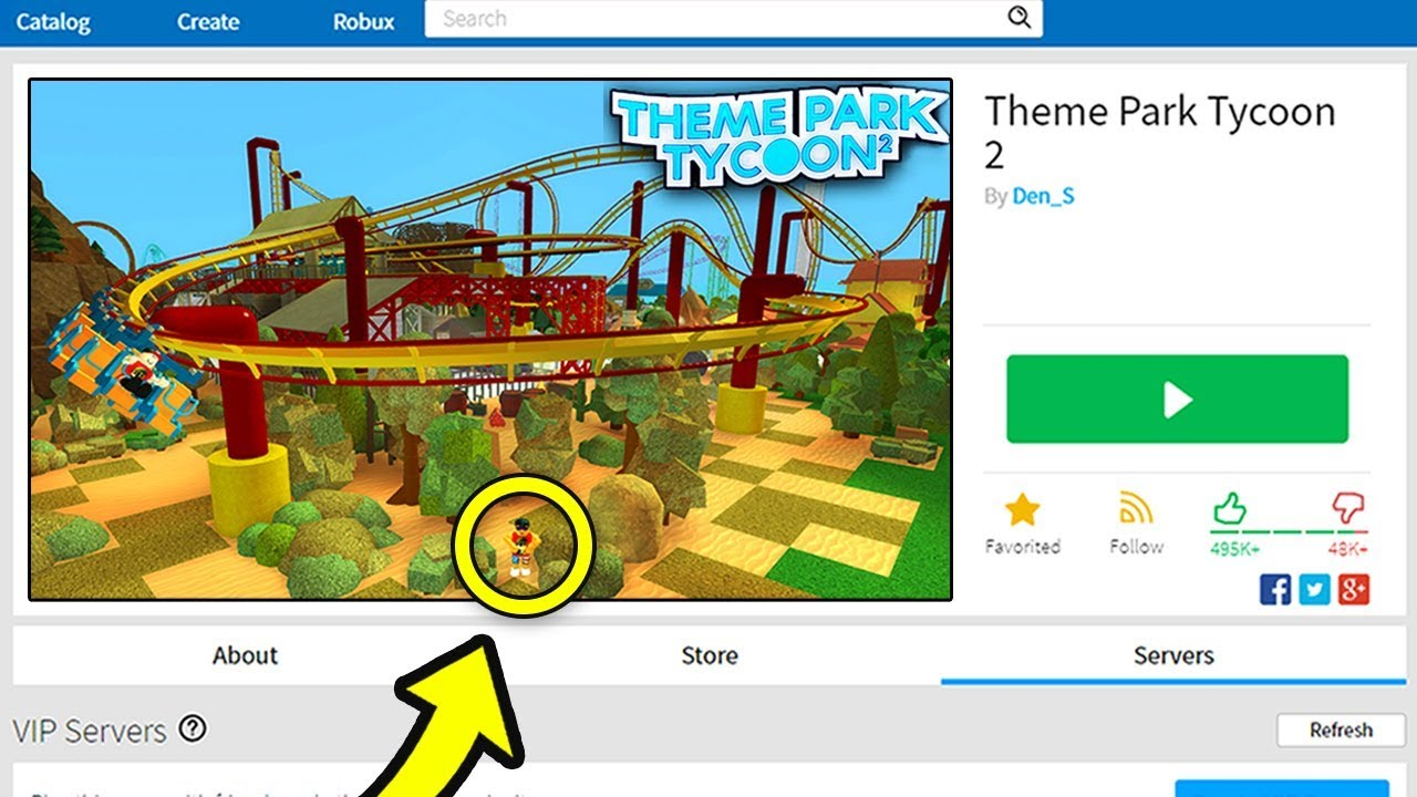 TOURING THE THEME PARK TYCOON 2 GAME PARK (Roblox)