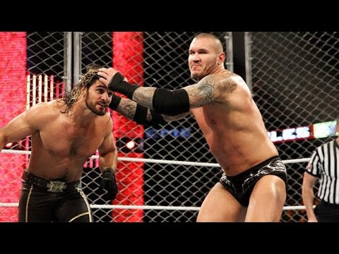 WWE Extreme Rules 2015 - SETH ROLLINS VS RANDY ORTON (CAGE MATCH, WITH THE RKO BANNED) - HIGHLIGHT